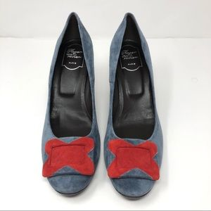 🆕 ROGER VIVIER suede heels